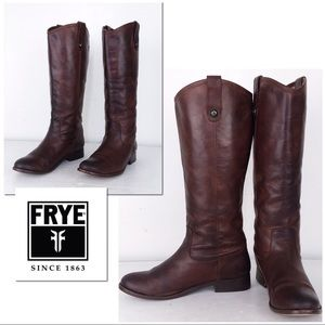 Frye Melissa Whiskey Leather Riding Boots